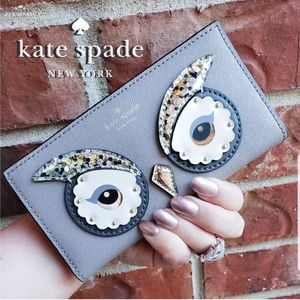 💋 NWT Kate Spade Owl Stacy City Scape Wallet